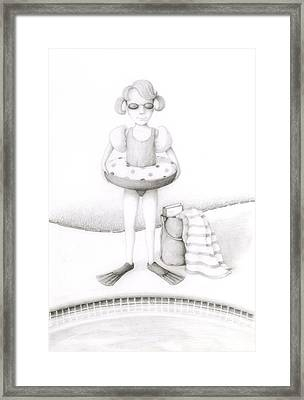 Bathing Beauty Framed Print by Diane Smith