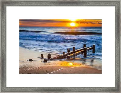 Bathing Corp Sunrise Framed Print