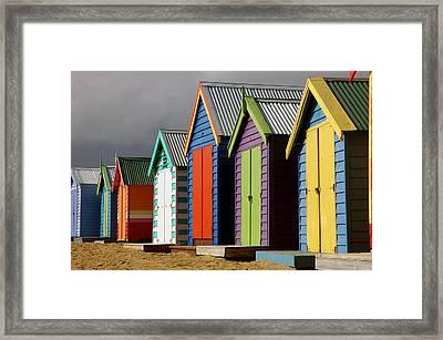 Bathing Huts Framed Print