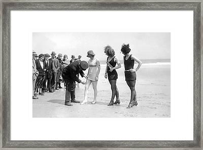 Bathing Suit Fashion Police Framed Print by Underwood Archives