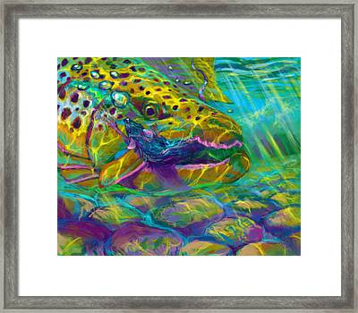Bathing The Mouse  Framed Print by Yusniel Santos