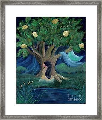 Bathing Under Magnolias Framed Print by Teresa Hutto