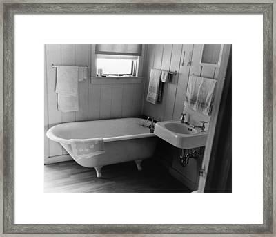 Bathroom, 1938 Framed Print