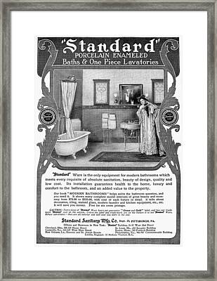 Bathroom Advertisement Framed Print