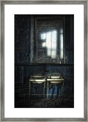 Bathroom Blues Framed Print