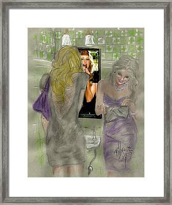Bathroom Visit Framed Print