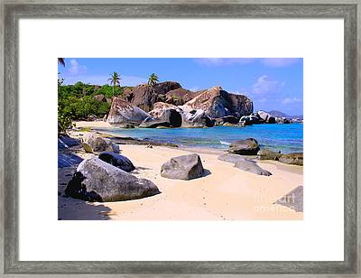 Baths Bvi Framed Print by Carey Chen