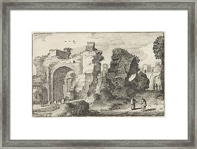 Baths Of Caracalla In Rome, Jan Van De Velde II Framed Print by Jan Van De Velde (ii)