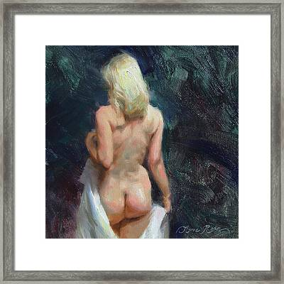Bathsheba Framed Print by Anna Rose Bain