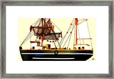 Bathtub Fisherman Framed Print
