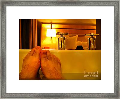 Bathtub Fun Framed Print by Kip Krause