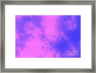 Batik In Purple And Pink Framed Print by Kerstin Ivarsson