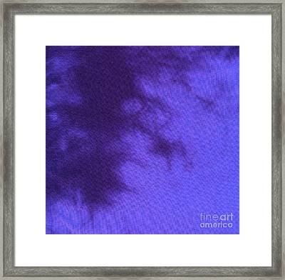 Batik In Purple Shades Framed Print by Kerstin Ivarsson