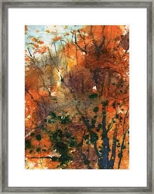 Batik Style/new England Fall-scape No.34 Framed Print