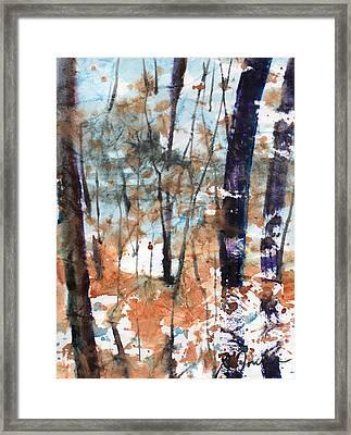 Batik Style No.47/new England Fallscape Framed Print