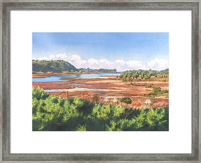 Batiquitos Lagoon Carlsbad California Framed Print