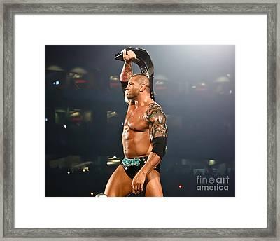 Batista - Wwe Champion Framed Print