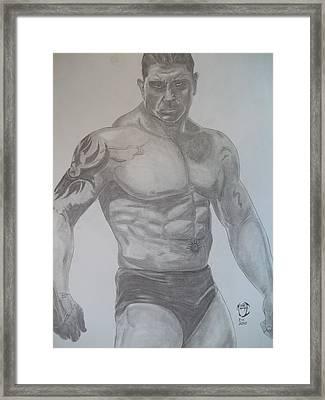 Batista Framed Print by Justin Moore