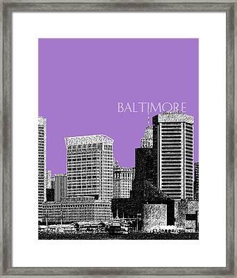 Batlimore Skyline Framed Print