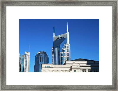 Batman Building And Nashville Skyline Framed Print