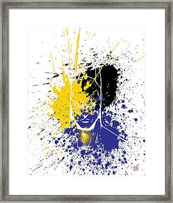 Batman Goes Splat Framed Print by Decorative Arts