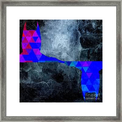 Batman Mirror Graphics Framed Print by Daniel Janda