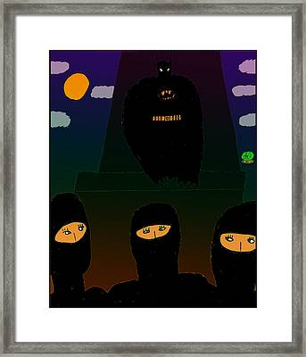 Batman-nocturnal E Framed Print by John Lavernoich