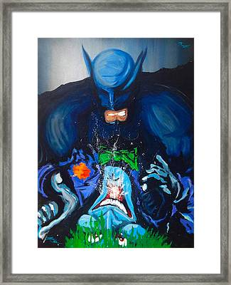 Batman Vs Joker Framed Print by KWC Art