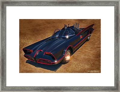 Batmobile Framed Print by Tommy Anderson