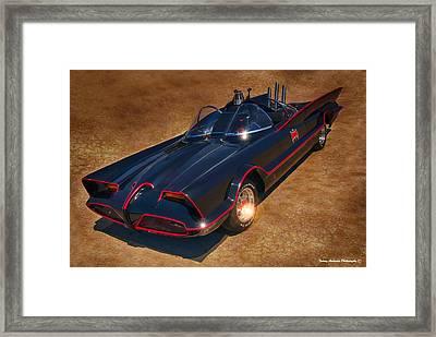 Batmobile Framed Print