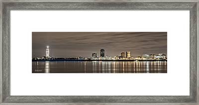 Baton Rouge Skyline Framed Print