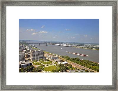 Baton Rouge's Mississippi River Framed Print by Helen Haw