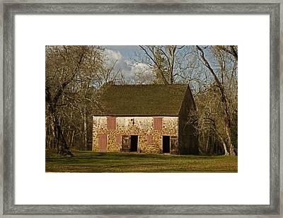 Batsto Barn Framed Print by Kristia Adams