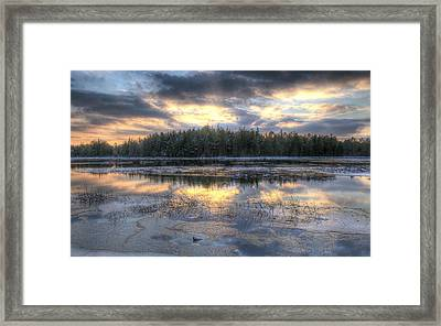 Batsto Lake Sunset1 Framed Print