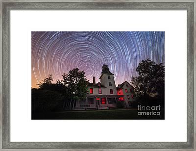 Batsto Mansion Star Trails Framed Print by Michael Ver Sprill
