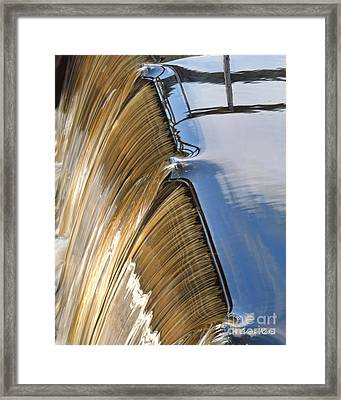 Batsto Waterfall Framed Print by Louise Reeves