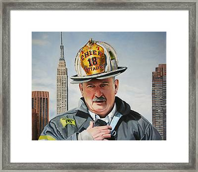 Battalion Commander Chief Salka Framed Print by Paul Walsh
