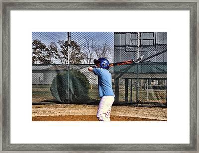 Batter Up Framed Print by Carolyn Ricks