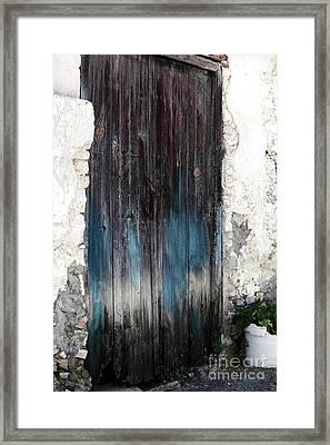 Battered Blue Framed Print by John Rizzuto