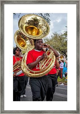 Battered Tuba Blues Framed Print by Steve Harrington