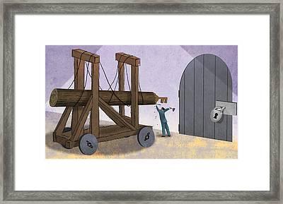 Battering Ram Framed Print by Steve Dininno