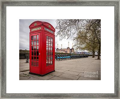 Battersea Phone Box Framed Print by Matt Malloy