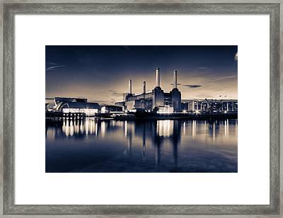 Battersea Toned Framed Print by Ian Hufton
