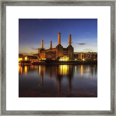 Battersea Twighlight Framed Print