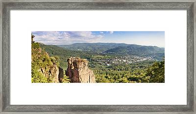 Battert-rock Formations, Baden-baden Framed Print by Panoramic Images