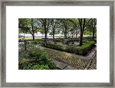 Battery Park Framed Print by Sennie Pierson