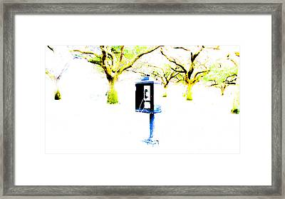 Battery Payphone Framed Print by Philip Zion