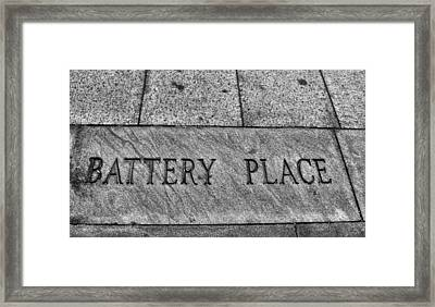 Battery Place Framed Print by Dan Sproul