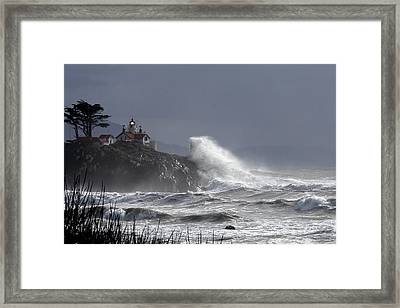 Battery Point Storm Framed Print