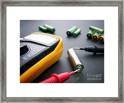 Battery Testing Framed Print by Sinisa Botas